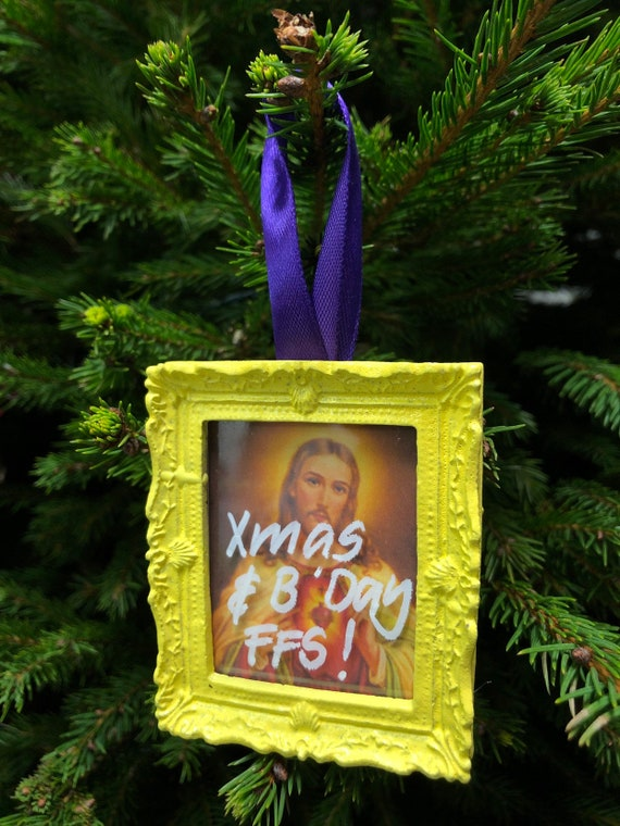 Christmas tree decoration - Jesus Birthday FFS