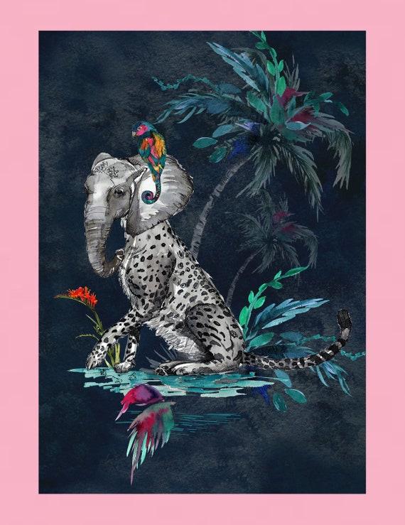 Chimiracle dark prints ELEPHANT