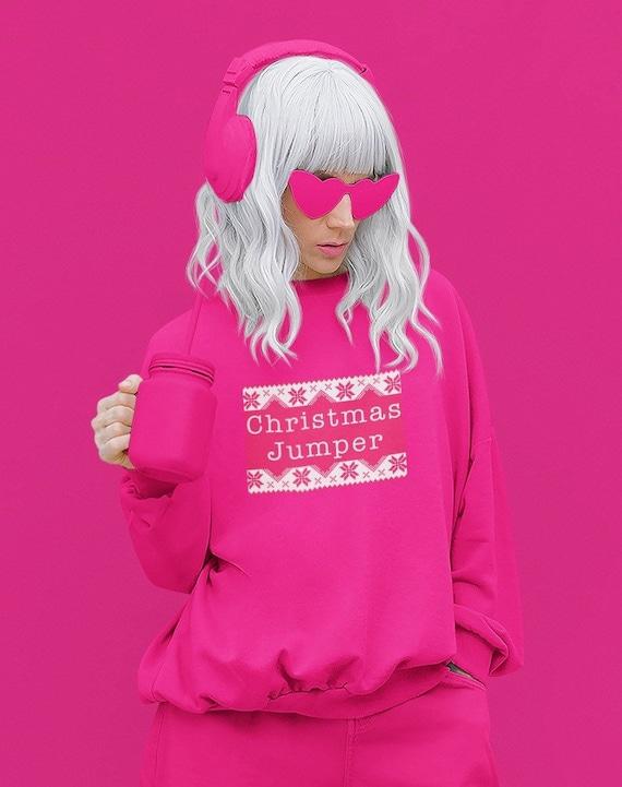 Christmas Jumper - Hot pink festive sweatshirt