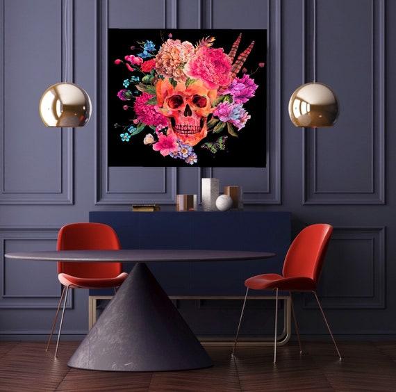 Dark floral Skull print