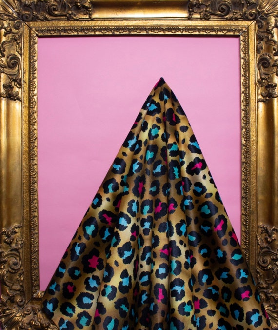 Coloured Leopard VELVET Fabric
