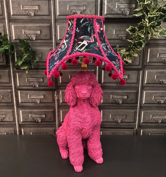 Poodle table top lamp