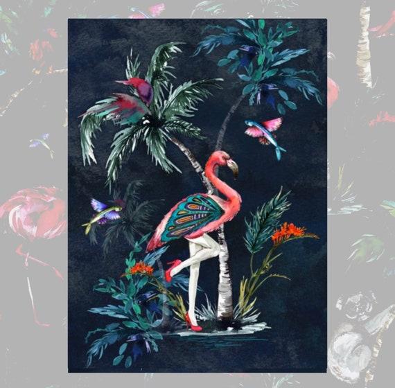 Chimiracle dark prints FLAMINGO