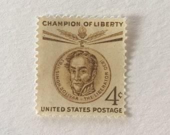 10 Simon Bolivar 4c US Postage Stamps Unused
