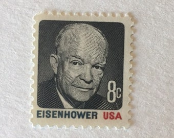 10 Dwight D Eisenhower 8c US Postage Stamps Unused