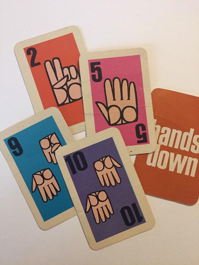 paper ephemera Junk journal smash book ATC 6 Vintage Hands Down Playing Cards
