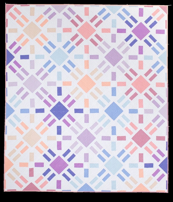 Sun Flare Quilt Pattern Then Came June modern quilt   Etsy