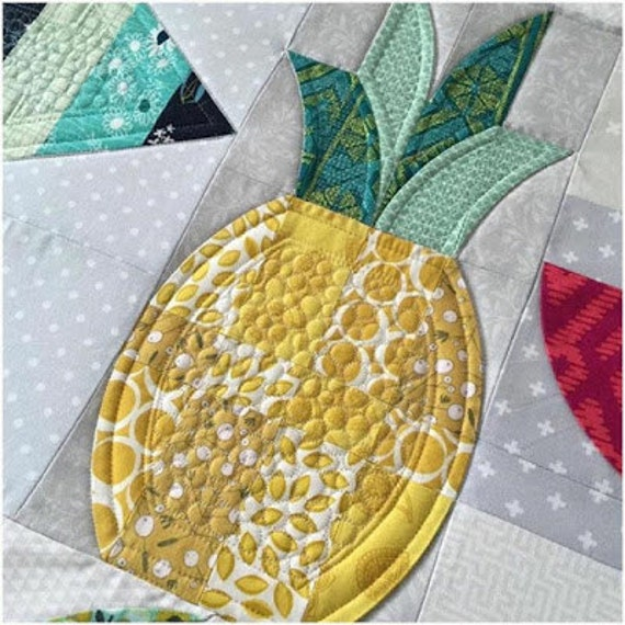 Mod Pineapples Quilt Pattern Sew Kind Of Wonderful Quick Etsy