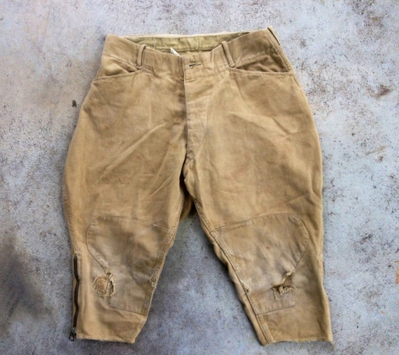 Vintage 1930s 1940s Boys SPRAGUE Khaki Cotton Butt