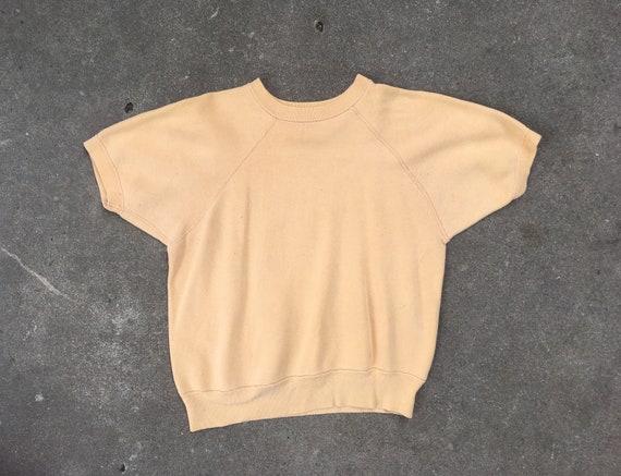 Vintage 1960s Mustard Yellow Cotton Short Sleeve C