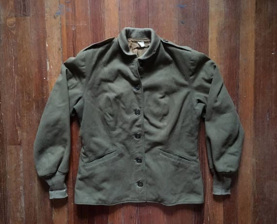 Vintage Womens 1940s WWII US Army WAC M-1943 Wool Field Jacket  80a9a2aaa