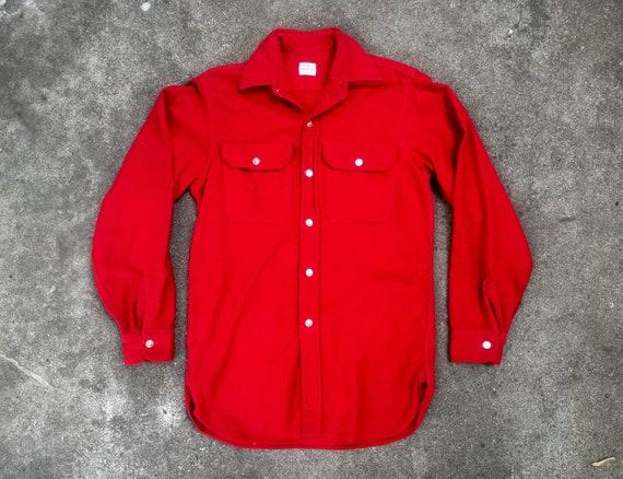 Vintage 1960s PENNEYS Sanforized Red 100% Cotton L