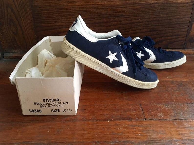 53011794cb7299 Vintage 1970s 1980s Mens CONVERSE One Star Blue Suede Leather