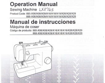 Brother Ls1717 Ls1817 Ls2020 Sewing Machine Operation Etsy