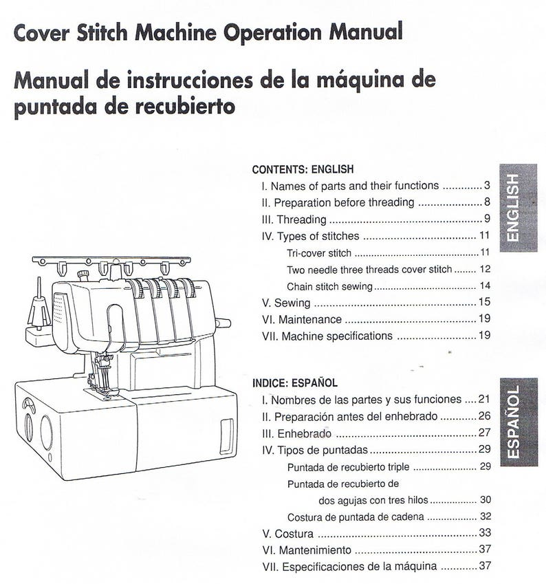 PDF Brother 2340CV Cover Stitch Overlock Serger Machine Operating User's  Guide Owners Instruction Manual Book