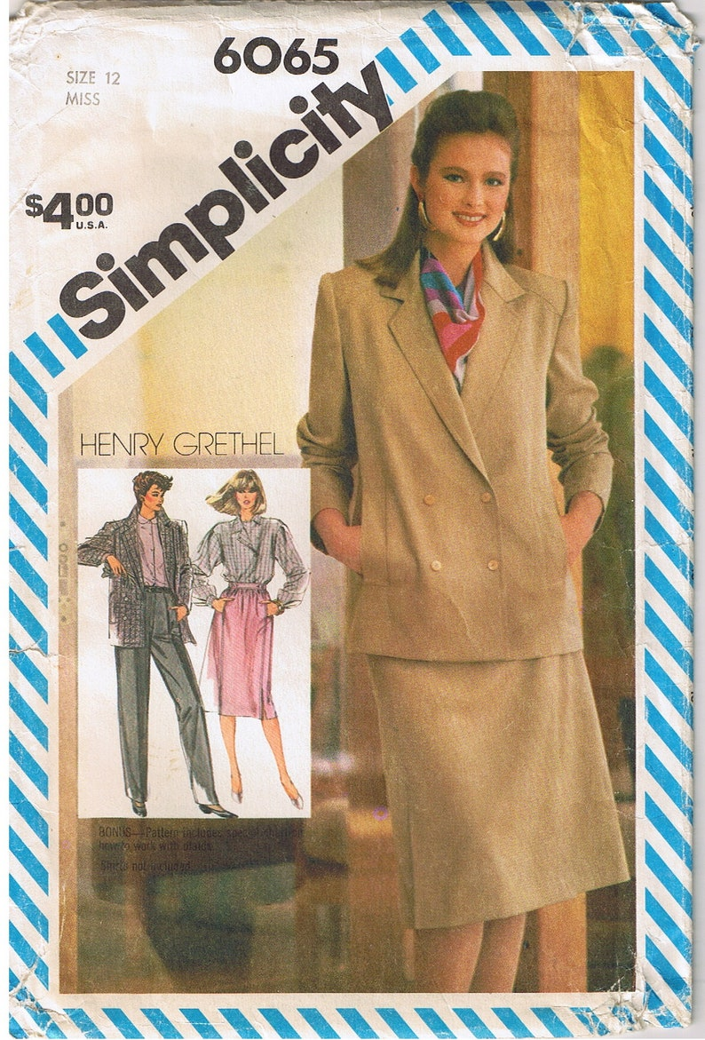 7b0861d1552 Vintage 80s Power Suit Unlined Jacket Waistband Skirt Pleated