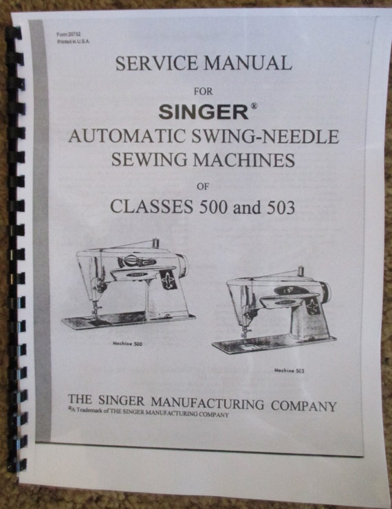Singer Class 40 40 Sewing Machine Service Repair Adjusters Etsy Custom Singer Sewing Machine 500a Manual