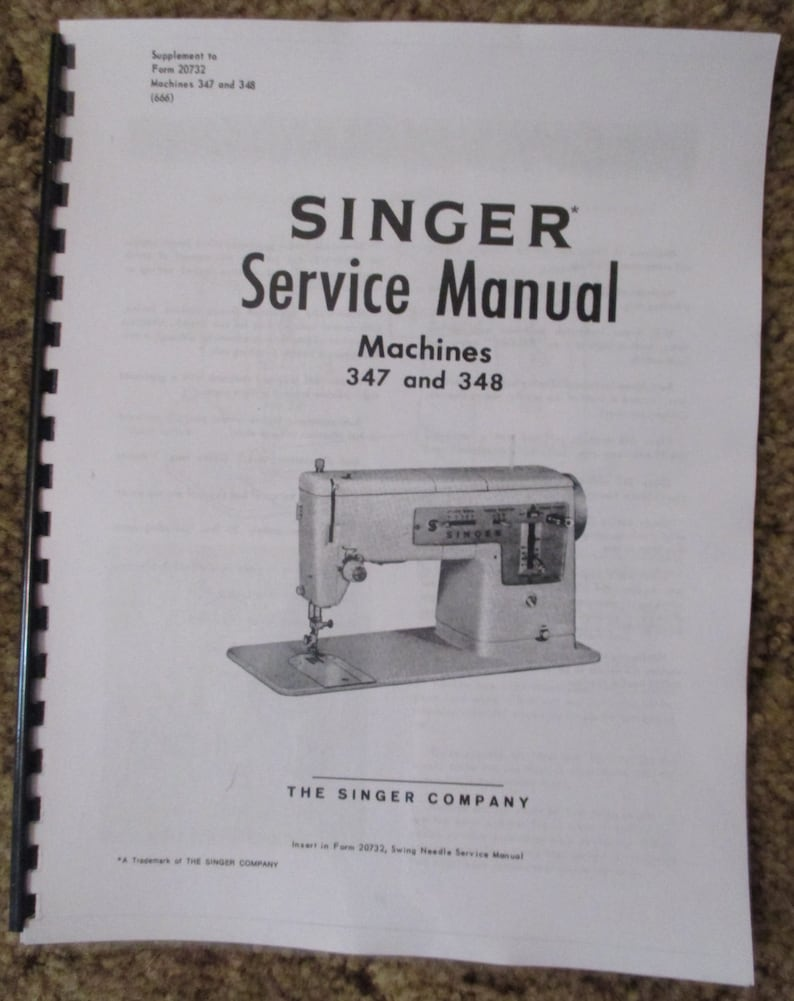 Singer Sewing Machine Class 15 Service Repair Manual Book How To Set Time Timing