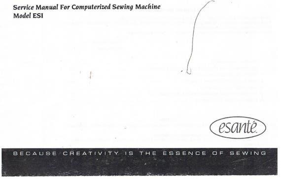 Baby Lock Esanti Esi Sewing Machine Service Repair Manual