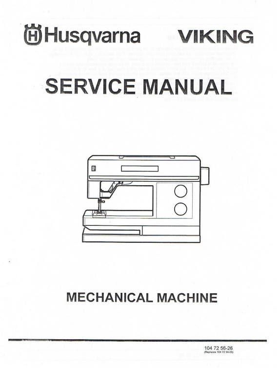 Husqvarna Viking Mechanical Sewing Machine Service Repair Etsy Custom Viking Mechanical Sewing Machine