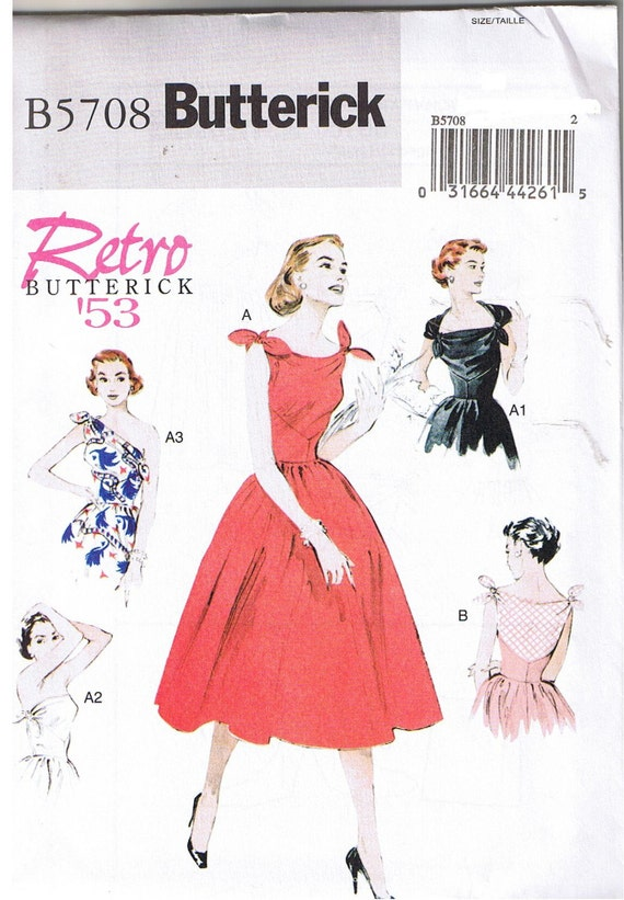 Butterick - 57... Butterick femme Easy sewing pattern 5708 Style Vintage robes