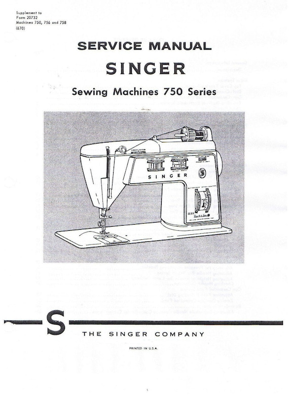 Singer Golden Touch Sew Sewing Machine Class 40 Series 40 Etsy Beauteous Singer Sewing Machine Service Manual