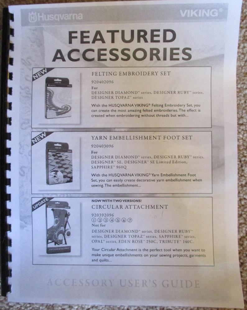 Husqvarna Viking Accessory Users Guide Presser Foot Instruction Manual Book