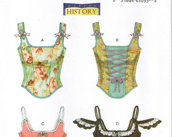 Historical Renaissance Medieval Boned Lace Up Corsets Butterick 5935 Sewing Pattern Size 12 14 16 18 20