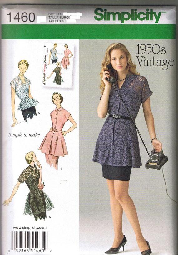 Vintage 50er 1950 Retro Schößchen Tunika und Bluse Schößchen | Etsy