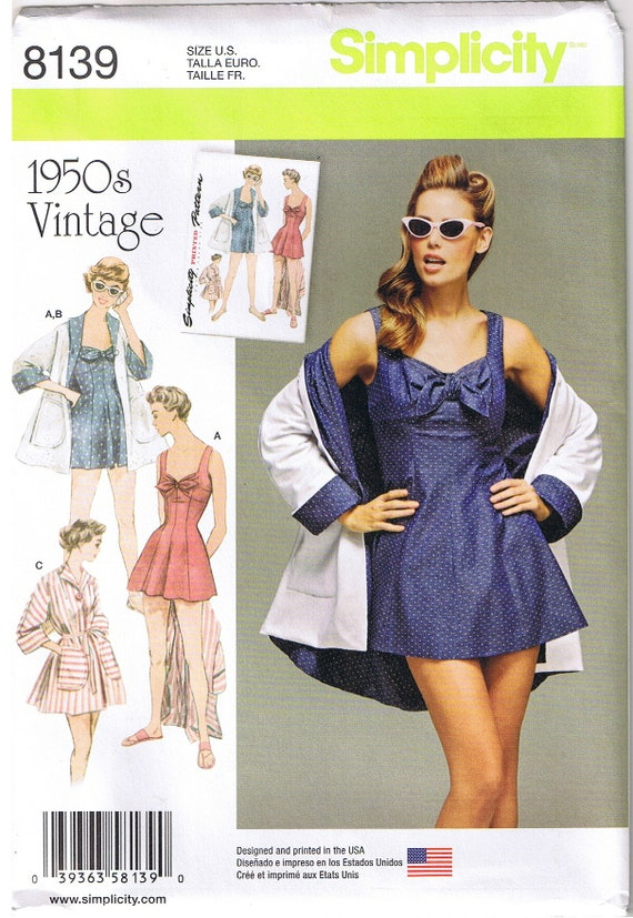 Vintage 50er Jahre Retro-1 Stück Badeanzug Strand Kleid Baden | Etsy