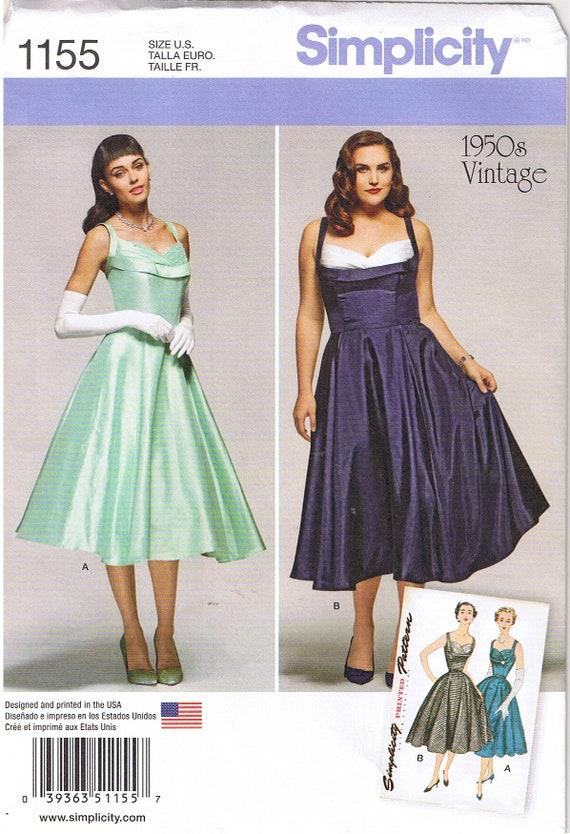 Vintage 50er Jahre 1950 Retro Rockabilly V-Back Kleid Mieder | Etsy