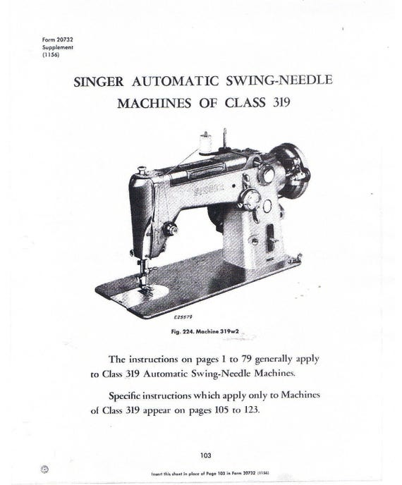 Singer Class 40 Sewing Machine Service Repair Adjusters Etsy Simple Singer 347 Sewing Machine Instruction Manual