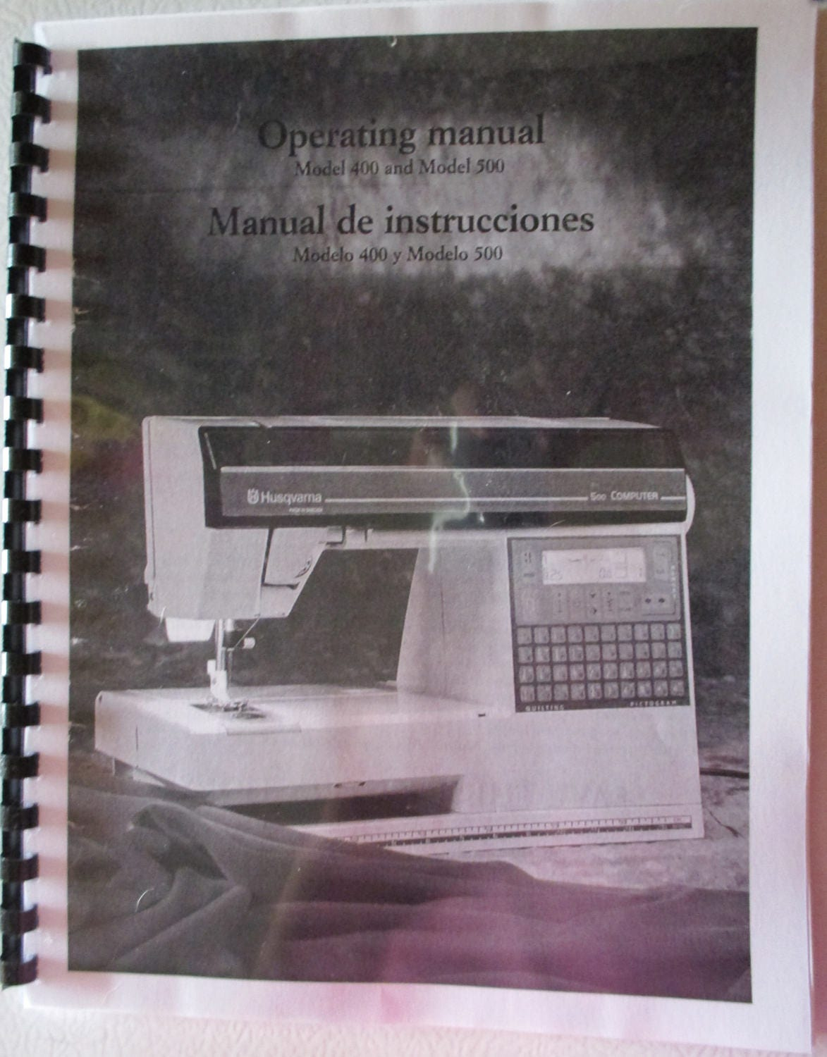 Husqvarna Viking 400 500 Computer Sewing Machine Users Guide Owners  Operating Instruction Manual Book