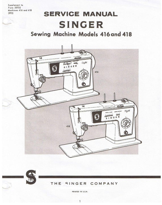 Singer Stylist Sewing Machine Model 40 40 Adjusters Service Etsy Unique Sewing Machine Repair Manuals