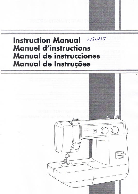 brother ls1217 sewing machine operation operating user s etsy rh etsy com brother pe770 instruction manual brother pe 770 owner's manual