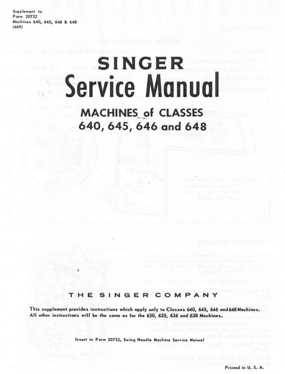 PDF Singer Sewing Machine Class Models 40 40 40 40 Etsy Best Singer Sewing Machine Manual