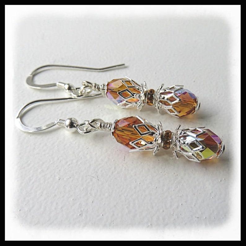 2493E Topaz birthstone earrings November birthstones image 0