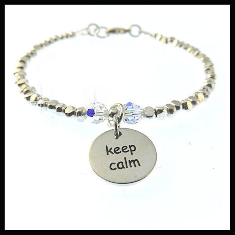 2234 Keep Calm Carry On bracelet keeping calm keep calm image 0