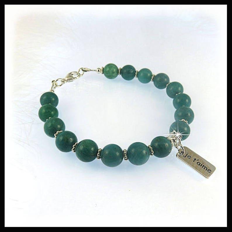 2208B Russian Amazonite bracelets Turquoise green bracelets image 0
