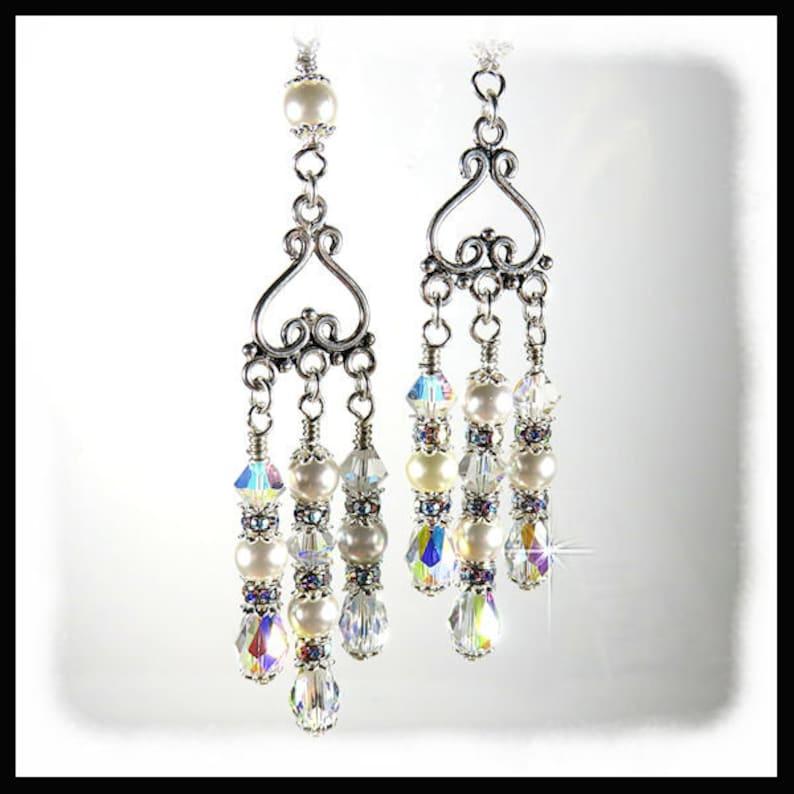 2338 Crystal earrings Wedding earring Wedding jewelry image 0