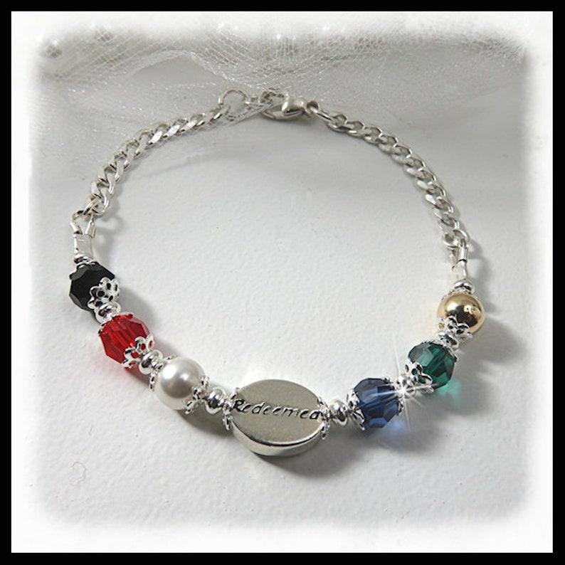 2411B Redeemed bracelet salvation bracelet Religious image 0