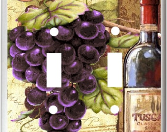 WINE AND GRAPE Light Switch Cover Plates k 13 Kitchen Home Decor  Free Shipping in U.S.!!!
