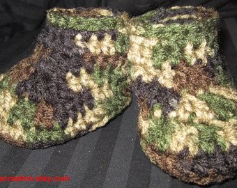 Baby Camo Booties 0-3 Months