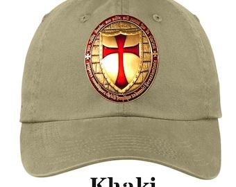 d501da466eb Knights Templar Cross Cap Dad Hat Baseball Trucker Mens Womens Ball Caps 13  Colors Black Khaki Blue Red Armor Crusades Shield