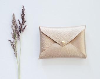 Vegan Gold Splash Wallet Gifts For Her Gold Business Card Etsy