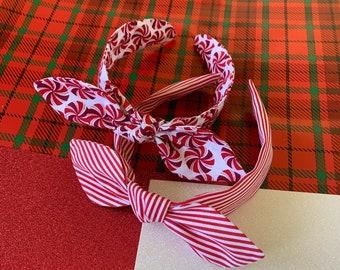 Stripe pattern Bow Headband plaid hairband for women Alice Headband Holiday Bow Headband Gift for girls,wide headbands for women