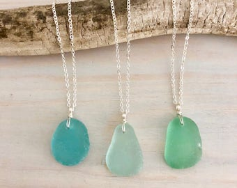 Sea glass jewelry etsy choose your own sea glass necklace beach glass necklace sea glass jewelry genuine sea glass seafoam sea glass aqua sea glass aloadofball Image collections