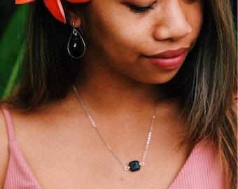 Lava Stone Jewelry Set - Diffuser Jewelry - Jewelry Gift Set - Essential Oil Jewelry - Black Lava Jewelry - Lava Stone Necklace