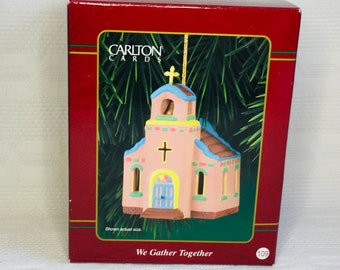 Ornament 1991 Carlton Cards CHRISTMAS CUDDLES First Christmas Together