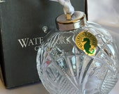 Waterford Cut Crystal SEAHORSE Ball Christmas Holiday Ornament- With Box-Made In Slovenia-A23